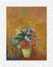 Vase Of Flowers, C1905 art print poster transferred to canvas