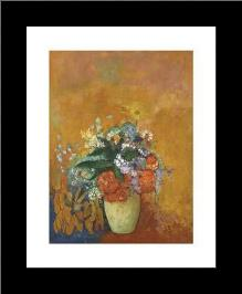 Vase Of Flowers, C1905 art print poster with simple frame