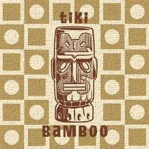 Tiki Bamboo art print poster transferred to canvas