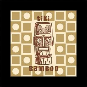 Tiki Bamboo art print poster with simple frame