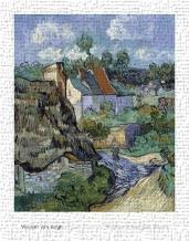 Houses At Auvers art print poster transferred to canvas