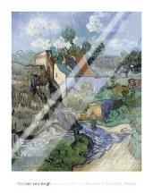 Houses At Auvers art print poster with laminate