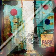 New York, 2000 art print poster with laminate