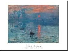 Impression Sunrise art print poster with block mounting