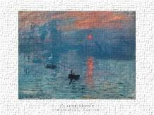 Impression Sunrise art print poster transferred to canvas