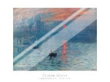 Impression Sunrise art print poster with laminate