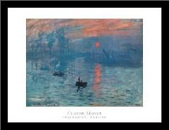 Impression Sunrise art print poster with simple frame