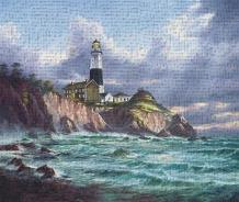 Montauk Point art print poster transferred to canvas