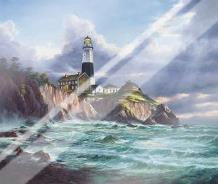 Montauk Point art print poster with laminate