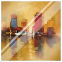 City Reflections I art print poster with laminate