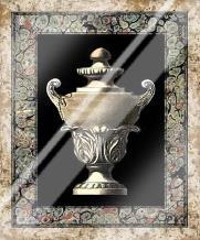 Urn on Marbleized Background I art print poster with laminate