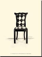 Designer Chair VII art print poster with block mounting