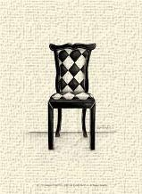 Designer Chair VII art print poster transferred to canvas