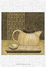 Bamboo Pot art print poster transferred to canvas
