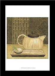 Bamboo Pot art print poster with simple frame