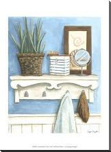 Coastal Bath IV art print poster with block mounting