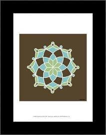 Dutch Lace II art print poster with simple frame