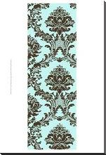 Small Vivid Damask In Blue II art print poster with block mounting
