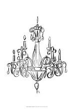 Graphic Chandelier I art print poster with laminate