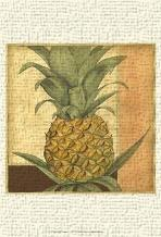 Golden Pineapple I art print poster transferred to canvas