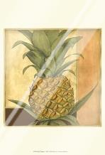 Golden Pineapple I art print poster with laminate