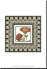 Printed Floral Potpourri IV art print poster with block mounting