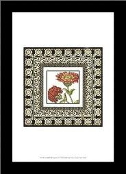 Printed Floral Potpourri IV art print poster with simple frame