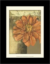 Small Ethereal Bloom II art print poster with simple frame
