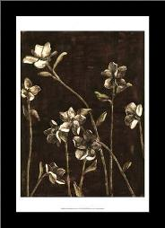 Medium Blossom Nocturne I art print poster with simple frame
