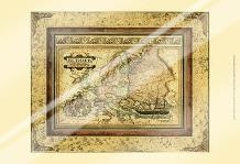 Crackled Map Of Europe art print poster with laminate