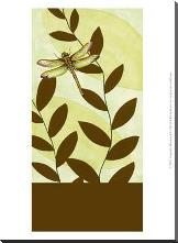 Dragonfly Whimsey I art print poster with block mounting