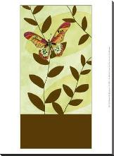 Butterfly Whimsey I art print poster with block mounting