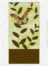 Butterfly Whimsey I art print poster transferred to canvas