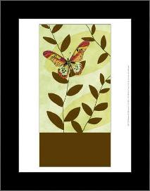 Butterfly Whimsey I art print poster with simple frame