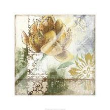 Globeflower Fresco I art print poster with laminate