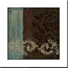 Damask Tapestry II art print poster with block mounting