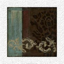 Damask Tapestry II art print poster transferred to canvas