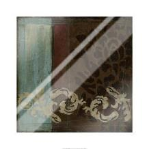 Damask Tapestry II art print poster with laminate