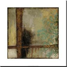Patina Abstract II art print poster with block mounting