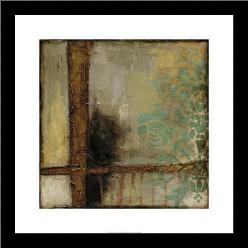 Patina Abstract II art print poster with simple frame