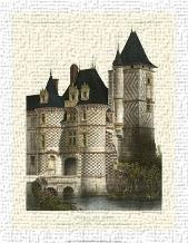 Petite French Chateaux XII art print poster transferred to canvas