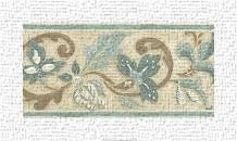 Crewelwork Panel II art print poster transferred to canvas