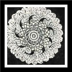 Abstract Rosette I art print poster with simple frame