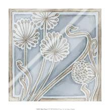 Silver Filigree II art print poster with laminate