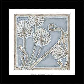 Silver Filigree II art print poster with simple frame