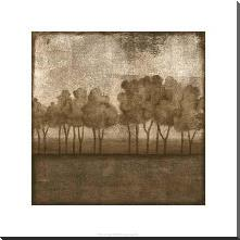 Trees At Dusk I art print poster with block mounting