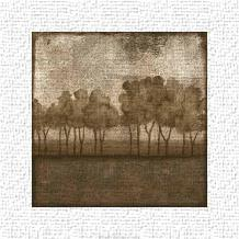 Trees At Dusk I art print poster transferred to canvas