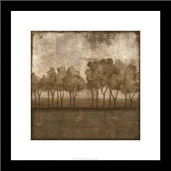 Trees At Dusk I art print poster with simple frame