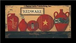 Redware art print poster with simple frame
