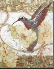Humming Bird II art print poster with block mounting